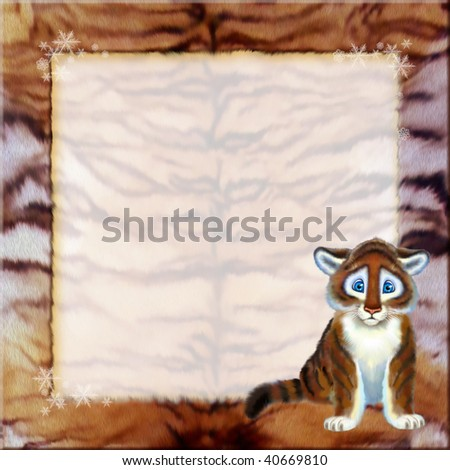 frame with tiger - stock photo