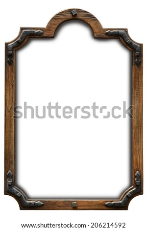 Frame wood country style - stock photo