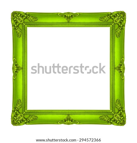 frame wooden gold picture frame Old isolated on a white background. - stock photo
