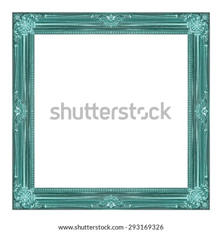 frame wooden picture frame Old isolated on a white background.  - stock photo