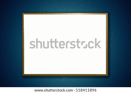 Framed White board with space for text and drop shadow on an abstract colored background