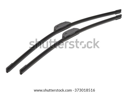 Frameless wiper blade isolate on a white background - stock photo
