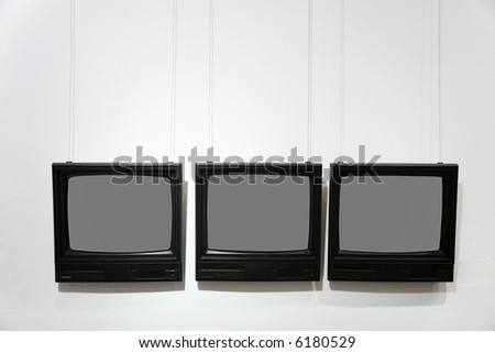 frames in the form of the television - stock photo