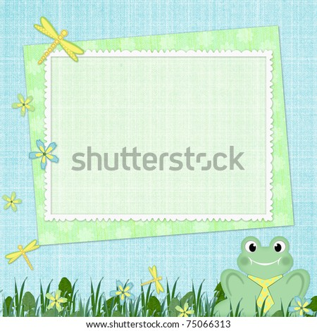 Framework for baby's photo - stock photo