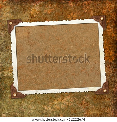 Framework for photo or invitation - stock photo