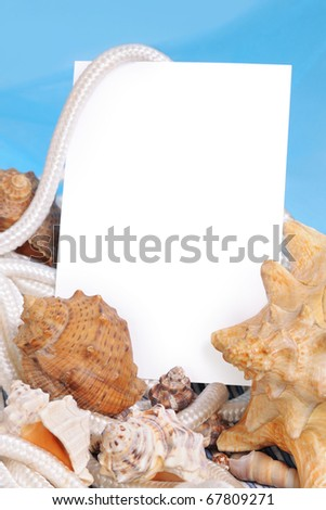 Framework on a sea background - stock photo