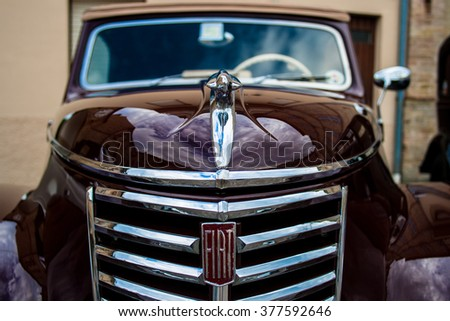 FRANCAVILLA,ITALY - JUNE 20.2015: Vintage Fiat - stock photo