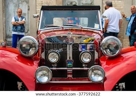 FRANCAVILLA,ITALY - JUNE 20.2015: Vintage JBA Falcon in a car expo - stock photo