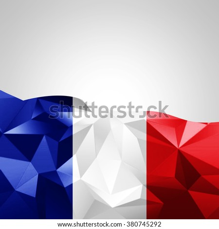 France abstract flag  with copyspace for your text or images and White background