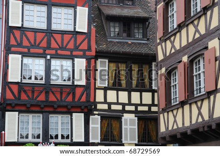 France, Alsace, historic house in Colmar