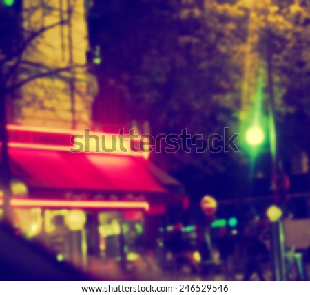 France background blur cafe - stock photo