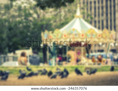 France background circus  carousel - stock photo