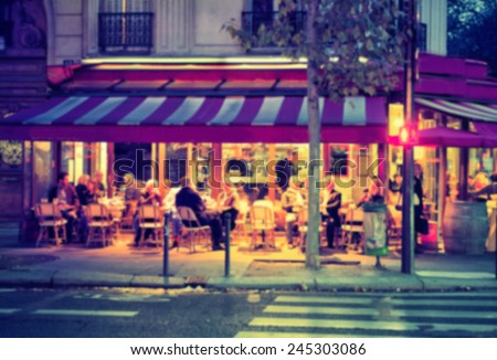 France background street caffe  - stock photo