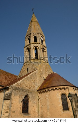 France, bell tower of  Orgeval church