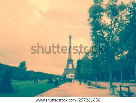 France blur background street - stock photo