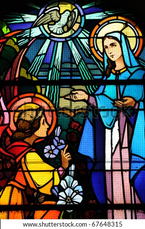 France, church of Maissemy, stained glass window
