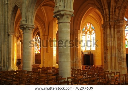 France, church Saint Martin of Triel