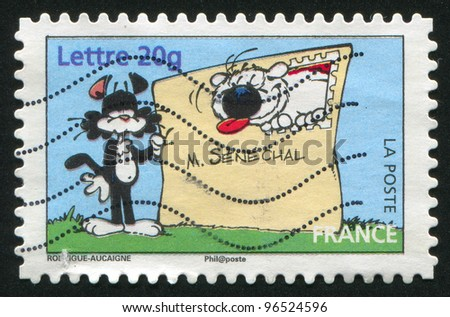 FRANCE - CIRCA 2006: A stamp printed by France, shows Cubitus, by Michel Rodrigue and Pierre Aucaigne, circa 2006