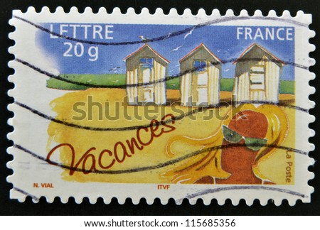 FRANCE - CIRCA 2005: A stamp printed in France dedicated to vacations, circa 2005