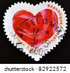 FRANCE - CIRCA 2003: A stamp printed in France showing a seal with the petals of a pink heart-shaped, circa 2003 - stock photo