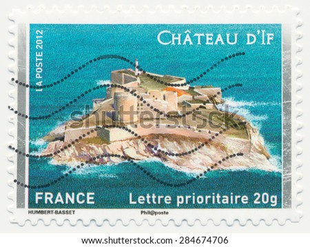 FRANCE - CIRCA 2012: a stamp printed in the France shows  Chateau d'If, circa 2012 - stock photo