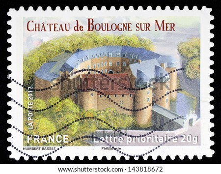 FRANCE - CIRCA 2012: stamp printed by France, shows Chateau de Boulogne sur Mer, circa 2012