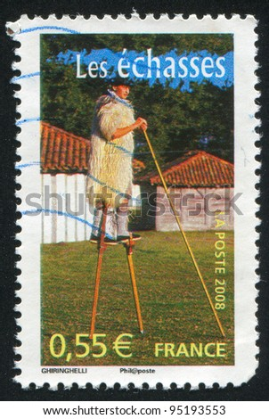 FRANCE - CIRCA 2008: stamp printed by France, shows Stilts, circa 2008
