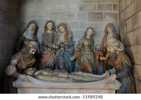 France, entombment of Christ in Poissy collegiate church