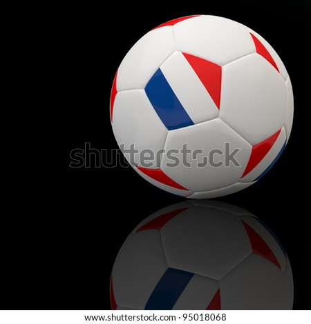 France flag on 3d football for Euro 2012 Group D