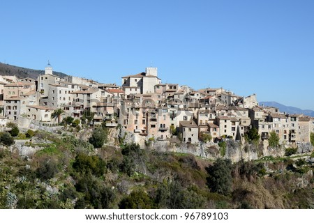France,french riviera,Tourettes sur loup,medieval village, historical center. - stock photo