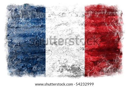 France grunge flag - stock photo