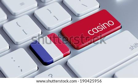 France High Resolution Casino Concept - stock photo