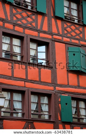France, houses in the district of La Petite France in Strasbourg