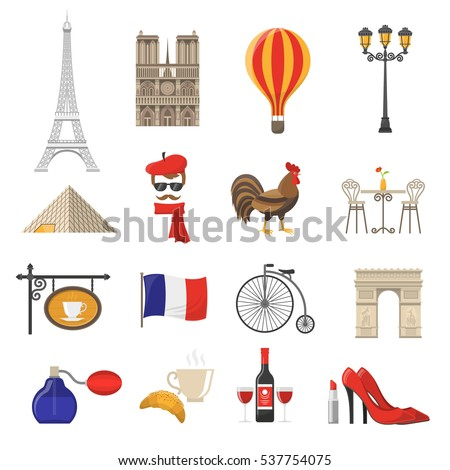 france icons setfrance illustrationfrance flat. Black Bedroom Furniture Sets. Home Design Ideas