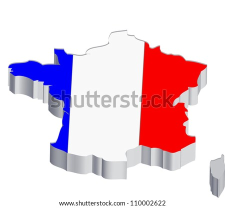 France Map - stock photo
