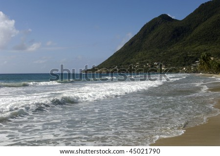 France, Martinique, le Diamant, le morne Larcher