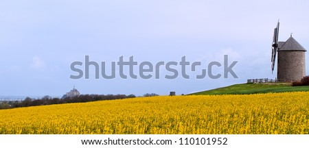 France, Mont Saint Michel, April,  2012. - stock photo