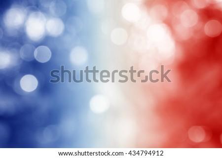 FRANCE : National flag. Soft blurred bokeh natural background. Abstract gradient desktop wallpaper. - stock photo