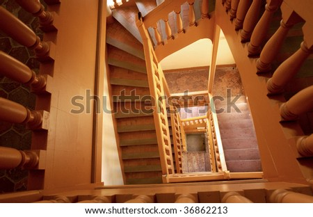 France, stairway in a castle
