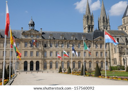 France, the Caen city hall in Normandie