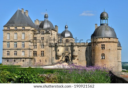 France, the castle of Hautefort in Dordogne