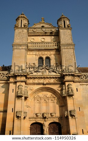 France, the historical church of Vetheuil