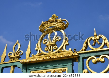 France, the Marie Antoinette estate in the parc of Versailles Palace - stock photo