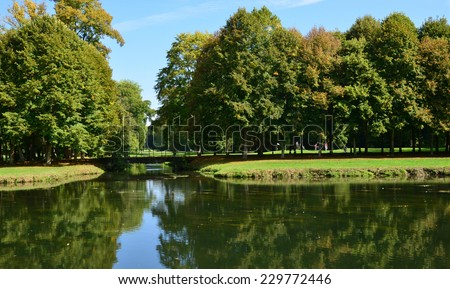 France, the picturesque golf of Maintenon in Eure et Loir    - stock photo