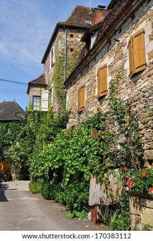 France, the picturesque village of Carennac in Lot
