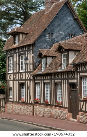 France, the picturesque village of  Lyons la Foret