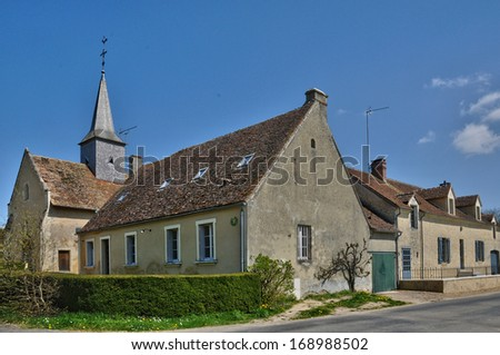 France, the village of Dame Marie in Normandie - stock photo