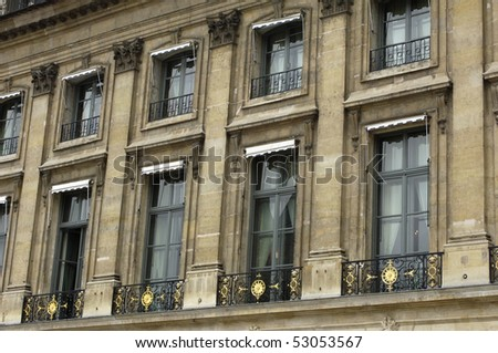 France, town house at Place Vendome in Paris
