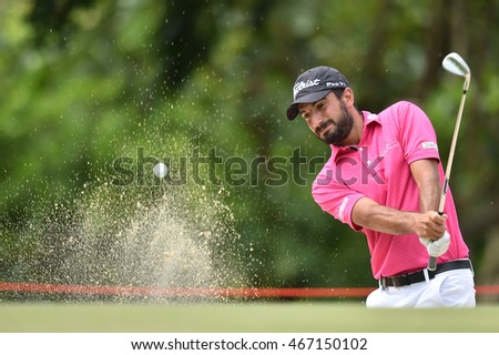 Francesco Laporta of Italy in action during round four of the King's Cup at Phoenix Gold Golf and Country Club on July 31, 2016 in Pattaya, Thailand.