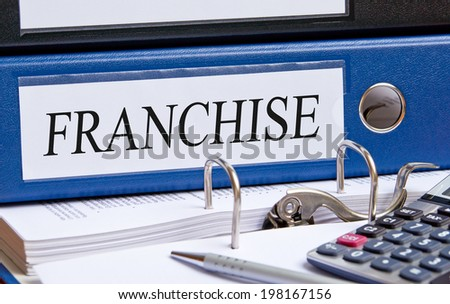 Franchise binder in the office - stock photo